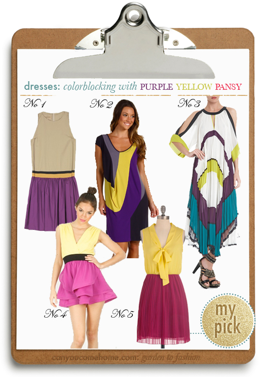 Colorblocking-by-Nature-Purple-Yellow-Dresses