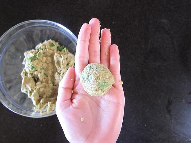 vegan lentil fritters
