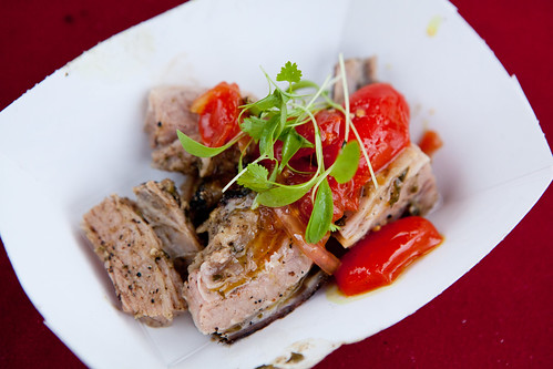 Mile End's smoked veal with pickled tomatoes