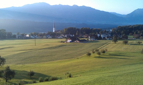 The beautiful setting of Alpnach, near Lucerne - the O-Tour start village