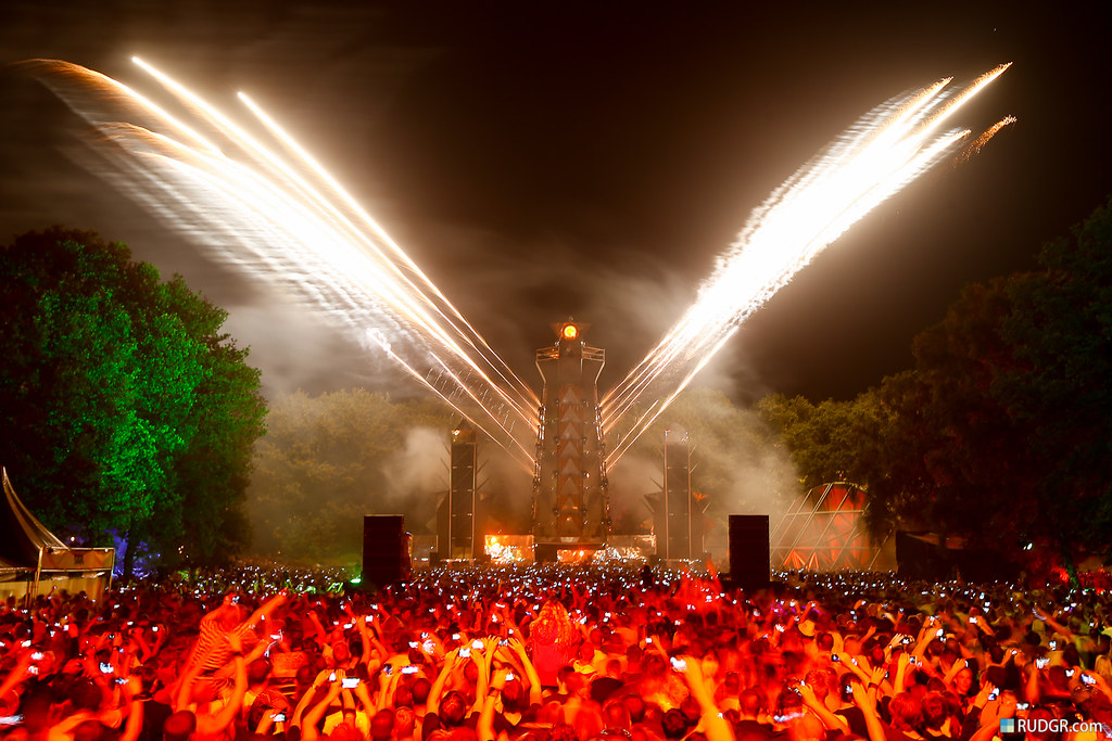 Q-Base Open Air Mainstage fireworks