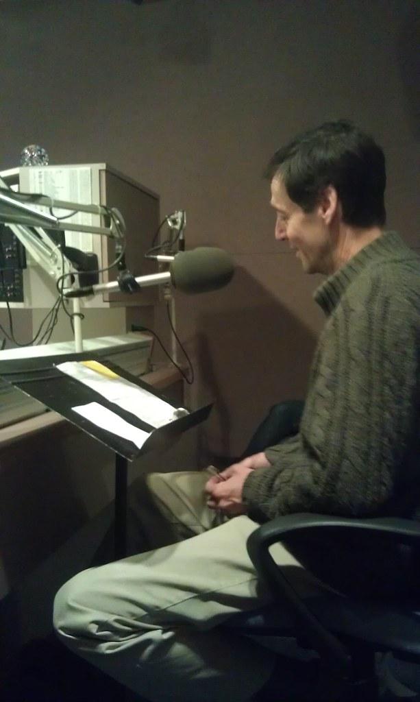 David Lutken recording for Sweet Folk Chicago at WFMT