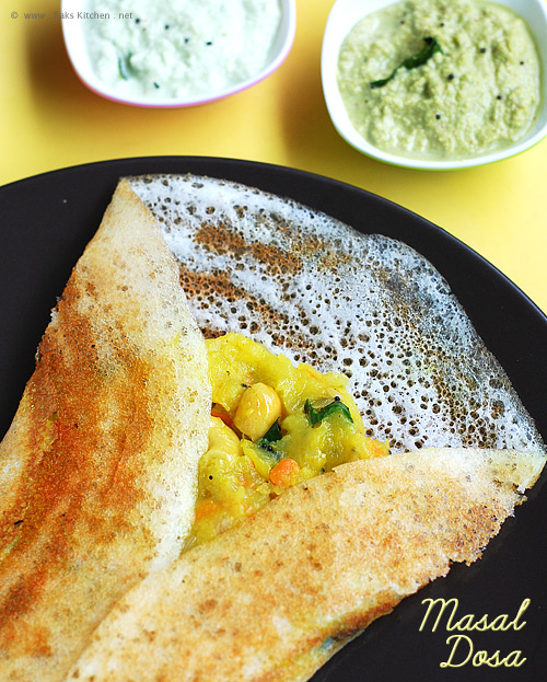Masala dosa recipe south indian breakfast raks kitchen masala dosa recipe forumfinder Gallery