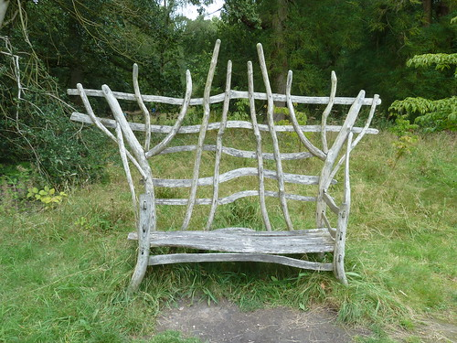 Rustic seat at Chatsworth