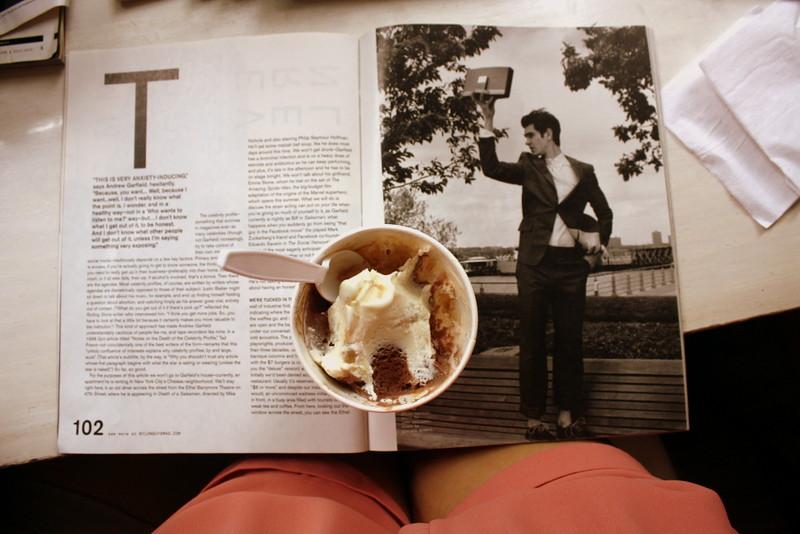 Ice cream with Andrew