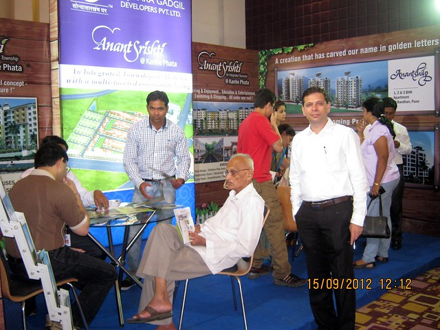 Mr. Kedar Vanjape, M D,  Dajikaka Gadgil Developers Private Limited at West of Pune Property Exhibition on 15th & 16th September 2012
