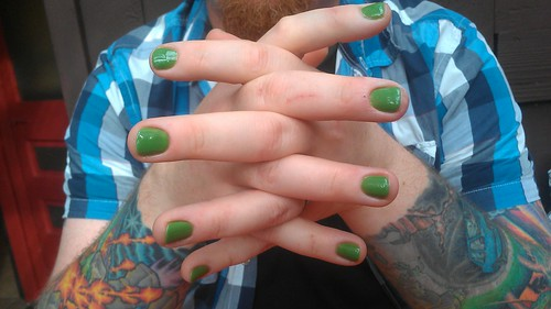 Garrett got Aquaman nails by christopher575