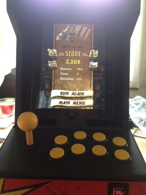 iCade modded with Sanwa parts