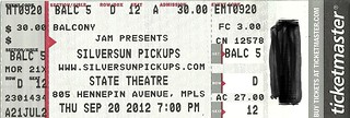 09/20/12 Silversun Pickups/ School Of Seven Bells/ Atlas Genius @ STate Theater, Minneapolis, MN (Ticket)