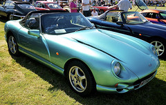 automobile(1.0), automotive exterior(1.0), tvr cerbera(1.0), vehicle(1.0), automotive design(1.0), tvr chimaera(1.0), land vehicle(1.0), tvr(1.0), convertible(1.0), supercar(1.0), sports car(1.0),
