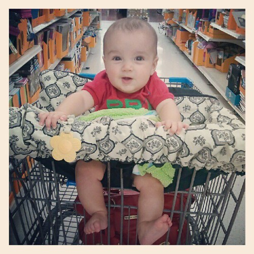 bennett rode in the buggy for the first time friday! his happiness was short lived. :)