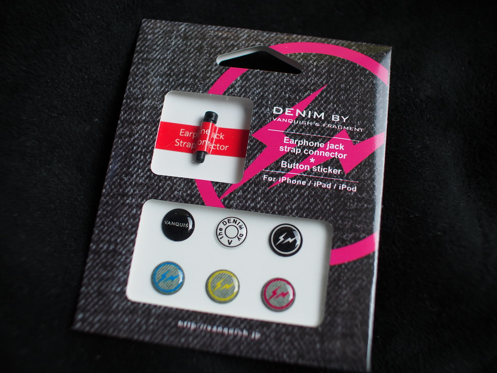 DENIM BY VANQUISH & FRAGMENT | Earphone Jack Strap Connecter * Button Sticker