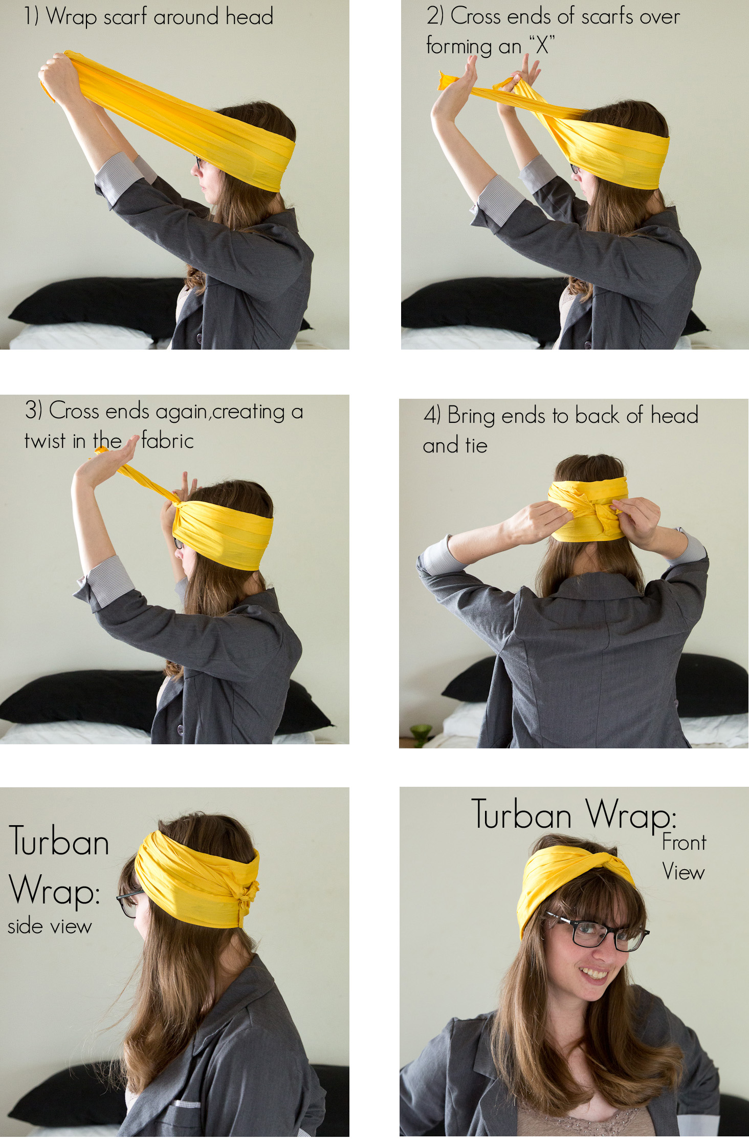 Turban Wrap Instructions