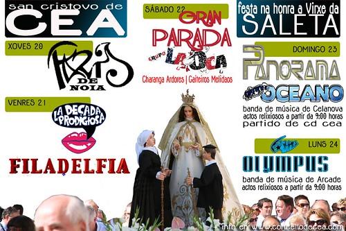Cea 2012 - Festas da Virxe da Saleta - cartel