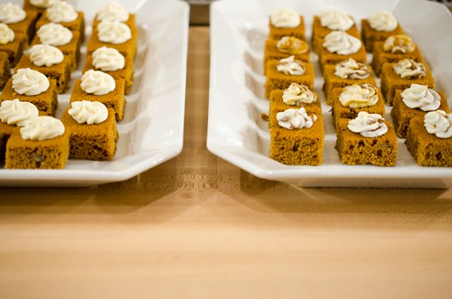 Pumpkin Spiced Bread with Maple Cream