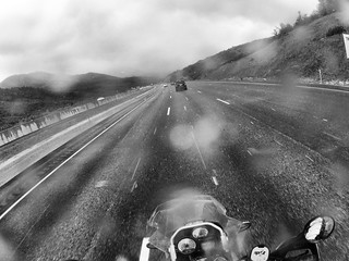 Crossing the pass between Park City and Salt Lake City.   Interstate 80, UT.
