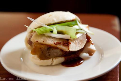 Five spice pork belly bun