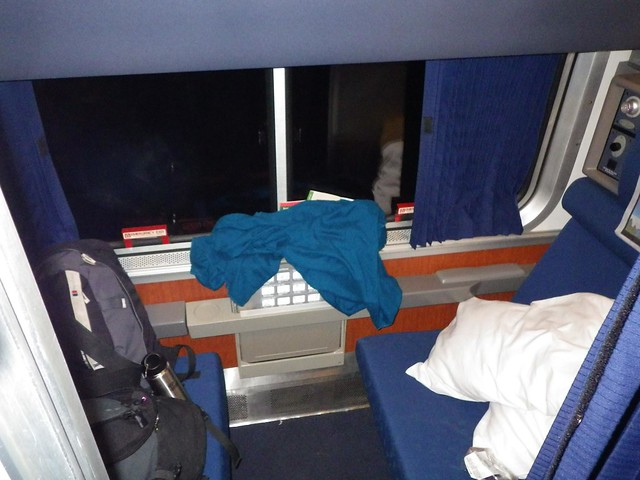 First class sleeper car - Amtrak Coast Starlight train - Emeryville to Seattle