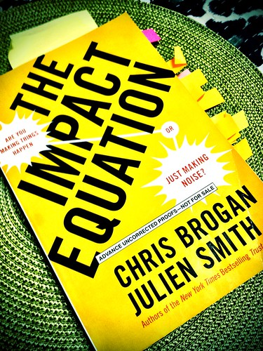 Finished reading The Impact Equation by @chrisbrogan @julien #impact -  So much good stuff in one book!