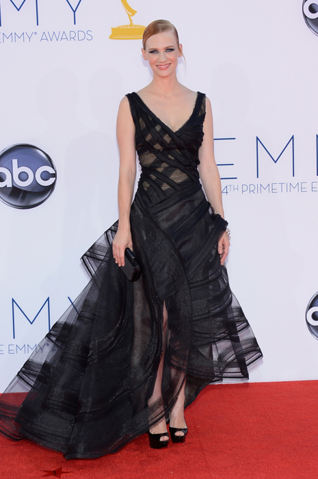 January Jones in Zac Posen emmys
