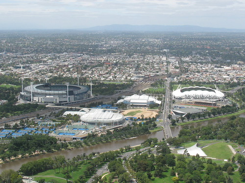 The MCG and Rod Laver Arena by holidaypointau