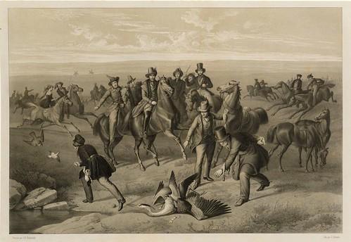 003-La caza de la garza 2- Traité de fauconnerie..1853- Hermann Schlegel- Universität Düsseldorf