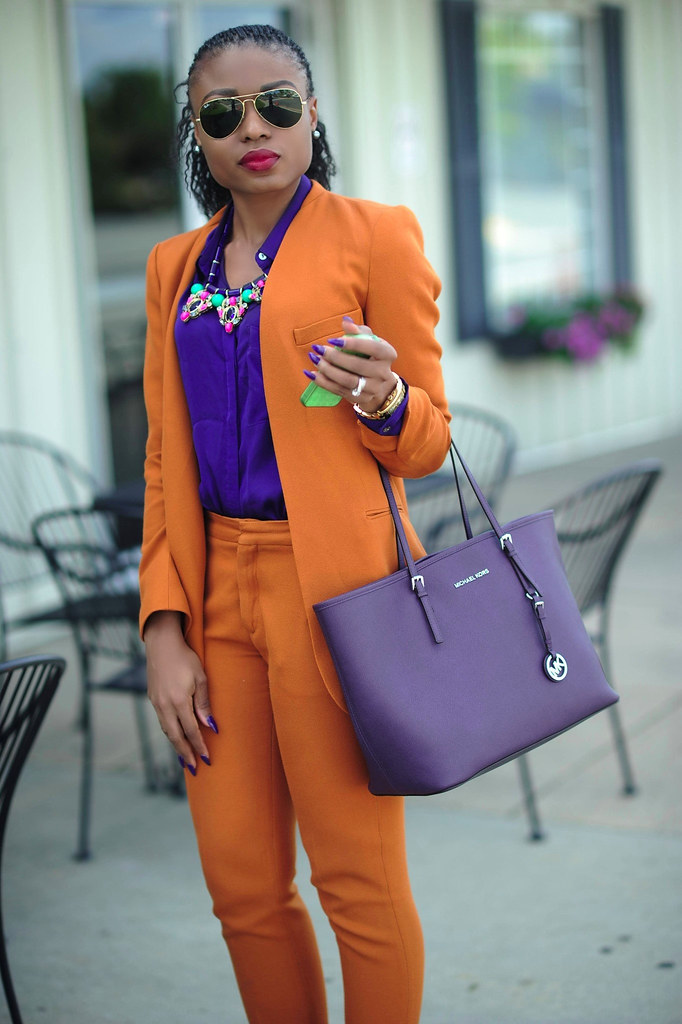 Fall Mix- Mustard & Purple by www.jadore-fashion.com