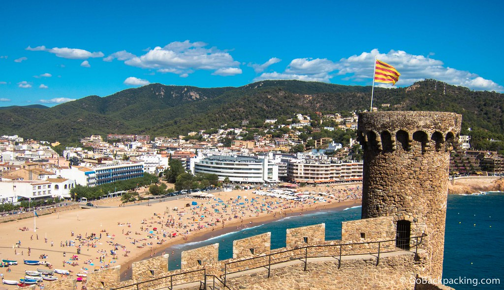 A few of the main beach at Tossa de Mar