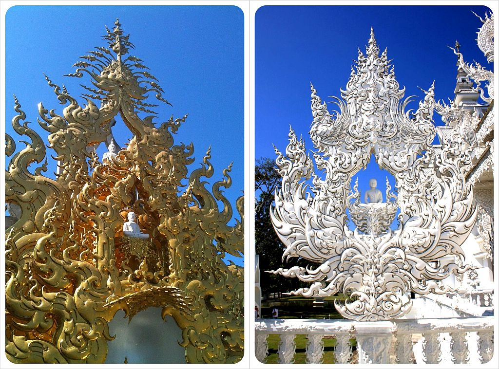 chiang rai white temple ornaments