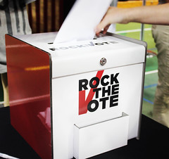 The Rock the Vote event featured prominent recording artist Asher Roth.