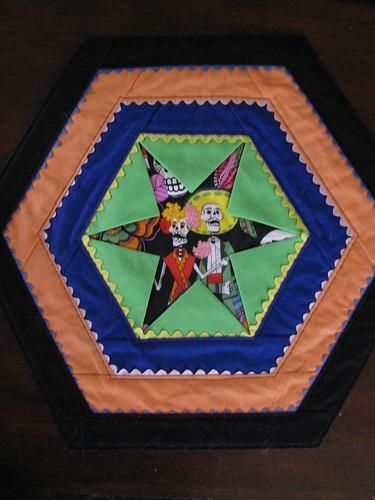 3D Star Day of The Dead Table Topper