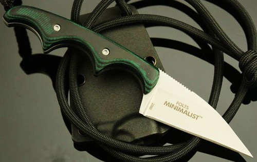 "Columbia River Folts Minimalist Neck Knife 2"" Wharncliffe Blade"
