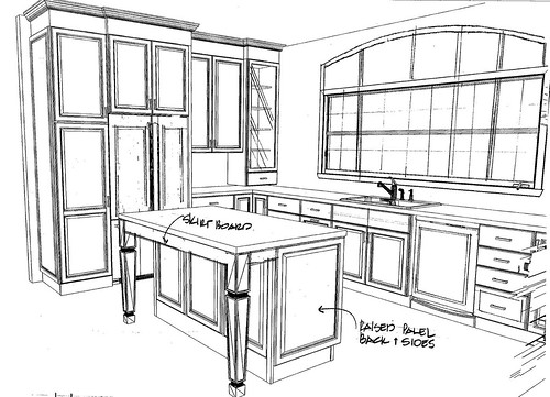 kitchen plan 1 - side view 1