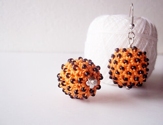 halloween crocheted dangle