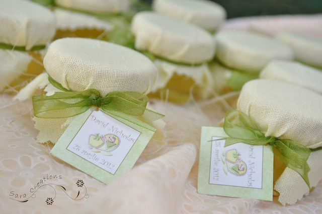 marturii botez personalizate - baby shower favors