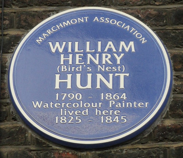 William Henry Hunt blue plaque - William Henry (Bird's Nest) Hunt