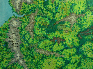 Middle-earth map. Fragment Shire