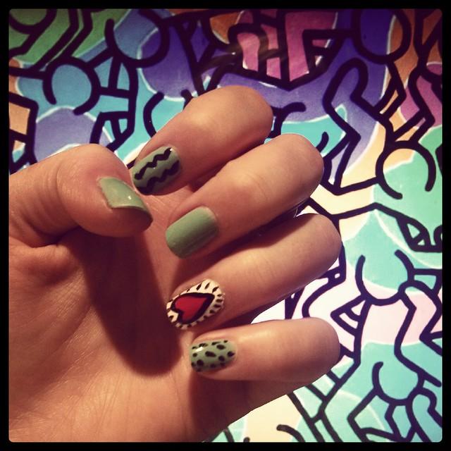 Keith Haring Nail Art