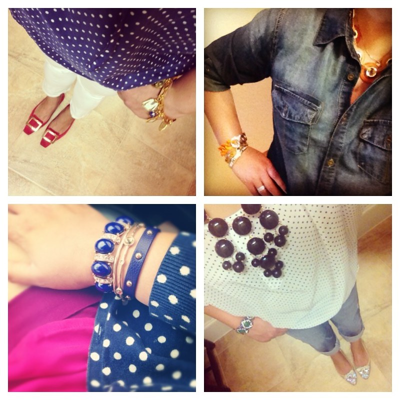 Dots and chambray