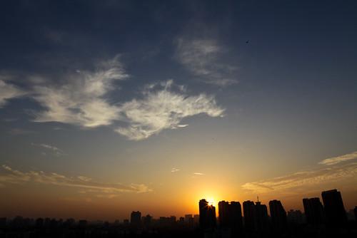 city morning sky cloud sunrise asaka