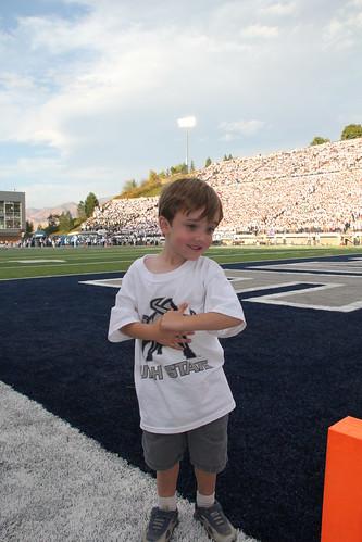 Olsen scored a touchdown