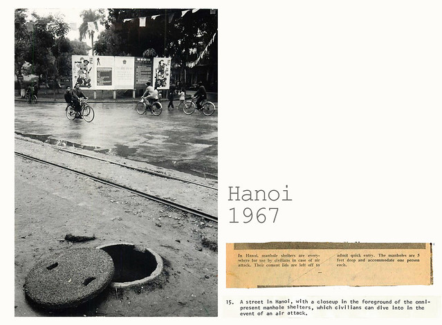 Hanoi 1967 -  Manhole Shelter for Civilians in Hanoi