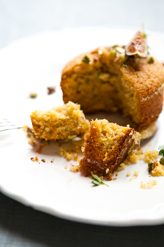 Polenta Cake with Honey-roasted Figs