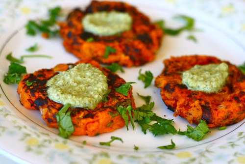 Spiced Indian Sweet Potato Pattie