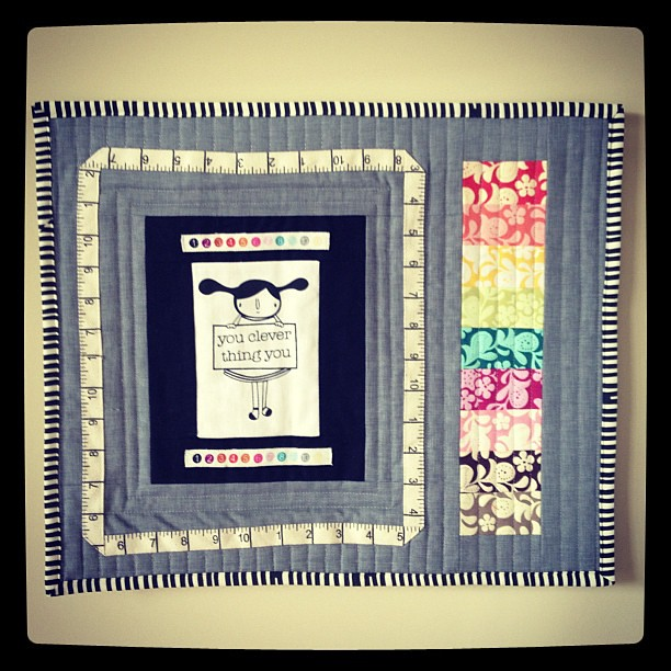 """Clever"" little mini for @sewingsummit silent auction. #sewingsummit"