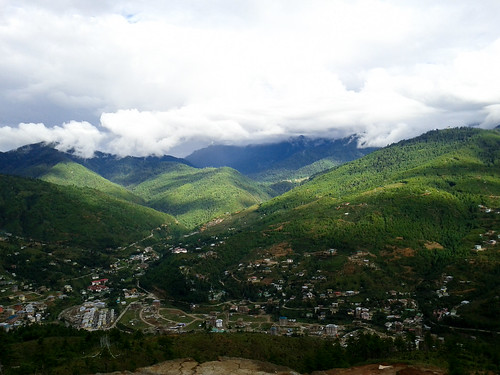 From Buddha Point in Thimphu
