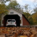 Driving Over the Eagleville Covered Bridge