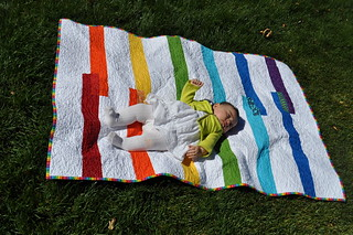 G and the Fruit Stripe Quilt
