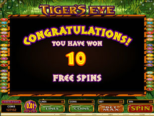 Tiger's Eye Free Spins Feature