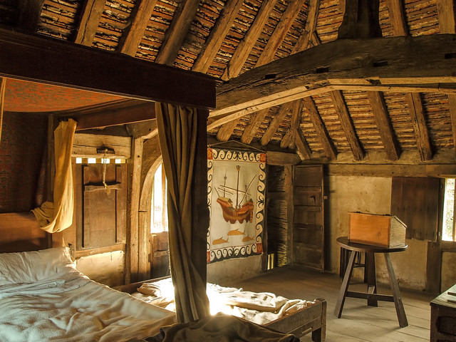 A Bedroom In The 15th Century Bayleat Farmhouse At The Wea